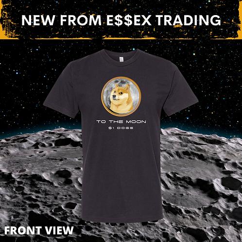 Black $1 DOGECoin To The Moon  Crypto T-Shirt