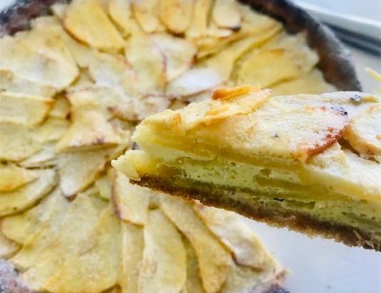 Tarte aux pommes sans beurre et sans complexe