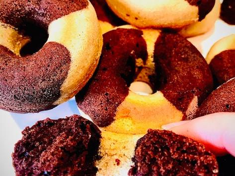 Donuts marbrés façon St Michel