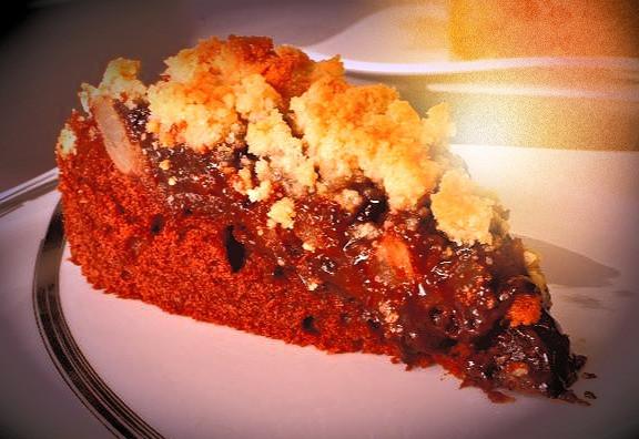Gâteau crumble poire/chocolat