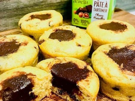 Muffins healthy fourrés à la pâte à tartiner