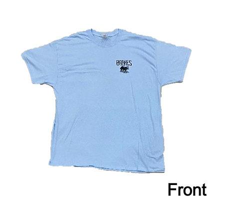 Light Blue-Barnes Hide and Fur T-Shirt