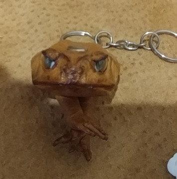 Bull-Frog Keychain