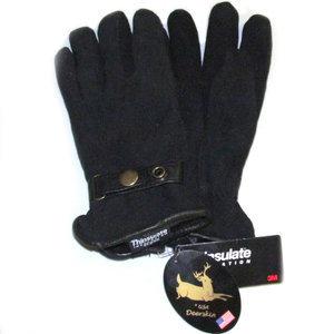 Deerskin Suede  Black Gloves-Women's