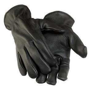 Deerskin Unlined Black Gloves-Mens