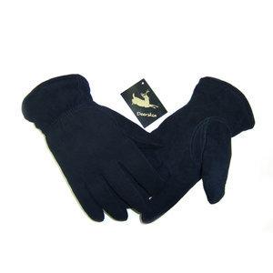 Suede Deerskin Gloves-Black-Men's