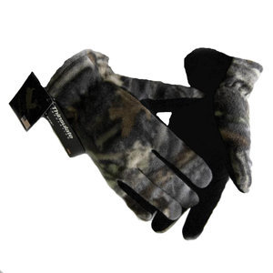 Fleece/Deerskin Camo Gloves-Men's
