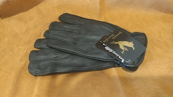 Deerskin Lined Black Glove-Women's