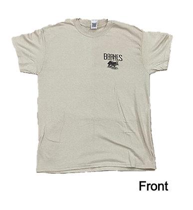 Sand w/ Black -Barnes Hide and Fur T-Shirt