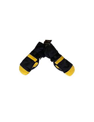 Black & Yellow/Deerskin Ski-Dri Gloves-Men's