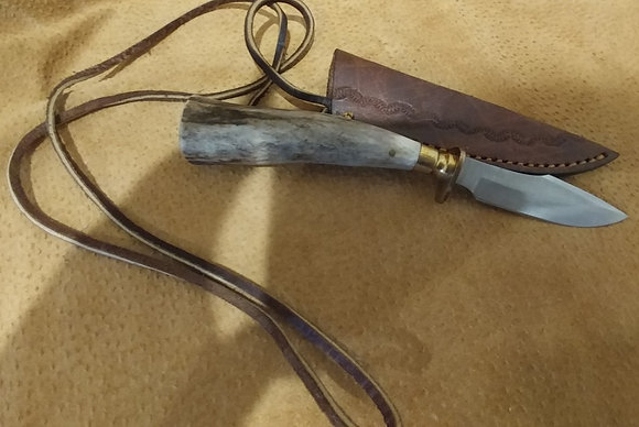 Skinner Stag Knife w/ Holder