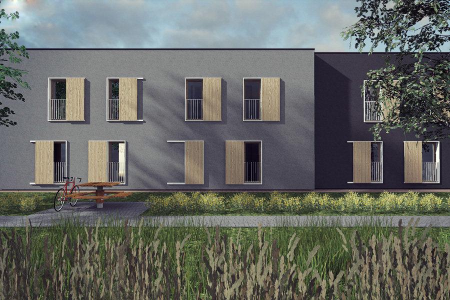 architekt Katowice, projekt domów szeregowych