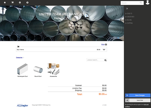 Allmoxy Ordering Page | United Team Mechanial
