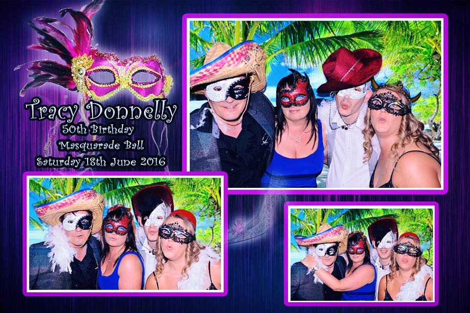 50th Birthday Masquerade Photo Booth