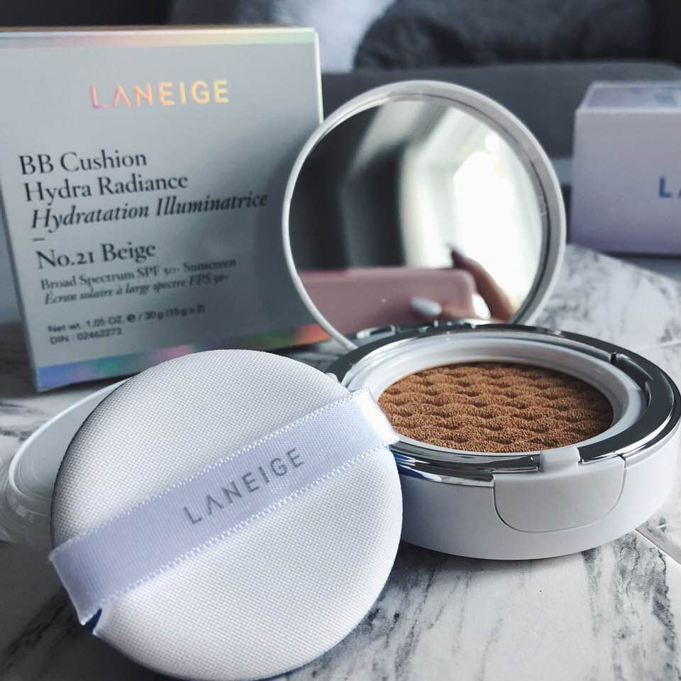 Laneige BB Cushion Hydra Radiance Review by Brooke Brianna