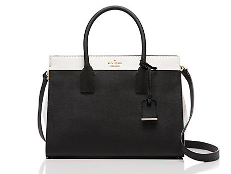 Cameron Street Candace Satchel in black/cement by Kate Spade