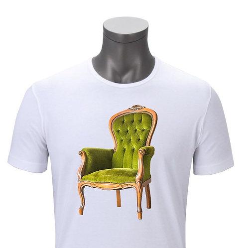 Playera de sillón blanca
