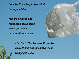 Don't be a bag in the wind