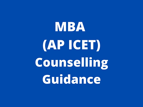 MBA AP ICET Counselling Guidance