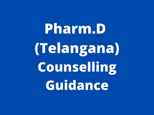 Pharm.D Telangana Counselling Guidance