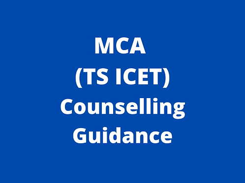 MCA TS ICET Counselling Guidance