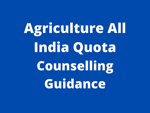 B.Sc Agri All India Quota (ICRA) Counselling Guidance