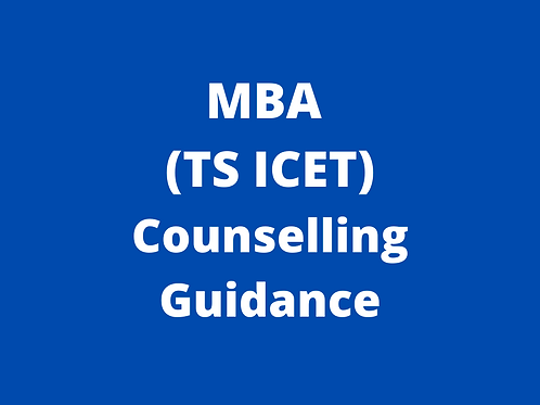 MBA TS ICET Counselling Guidance