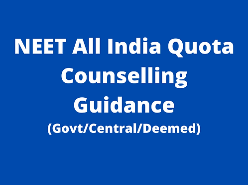 NEET All India Quota Counselling Guidance