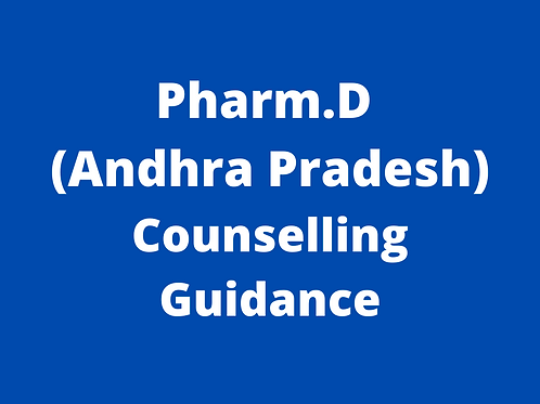 Pharm.D Andhra Pradesh Counselling Guidance