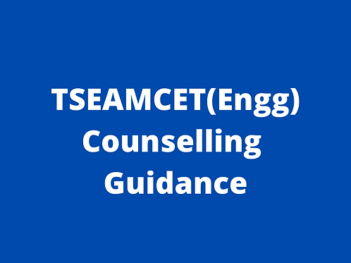TSEAMCET (Engg) Counselling Guidance
