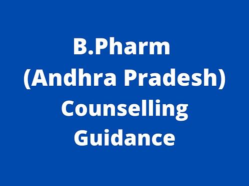 B.Pharmacy Andhra Pradesh Counselling Guidance
