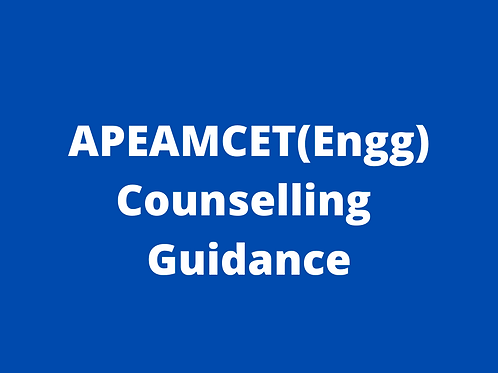 APEAMCET(Engg) Counselling Guidance