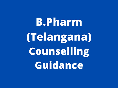 B.Pharmacy Telangana Counselling Guidance