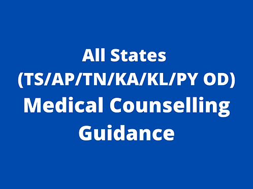 All in One NEET Counselling Guidance