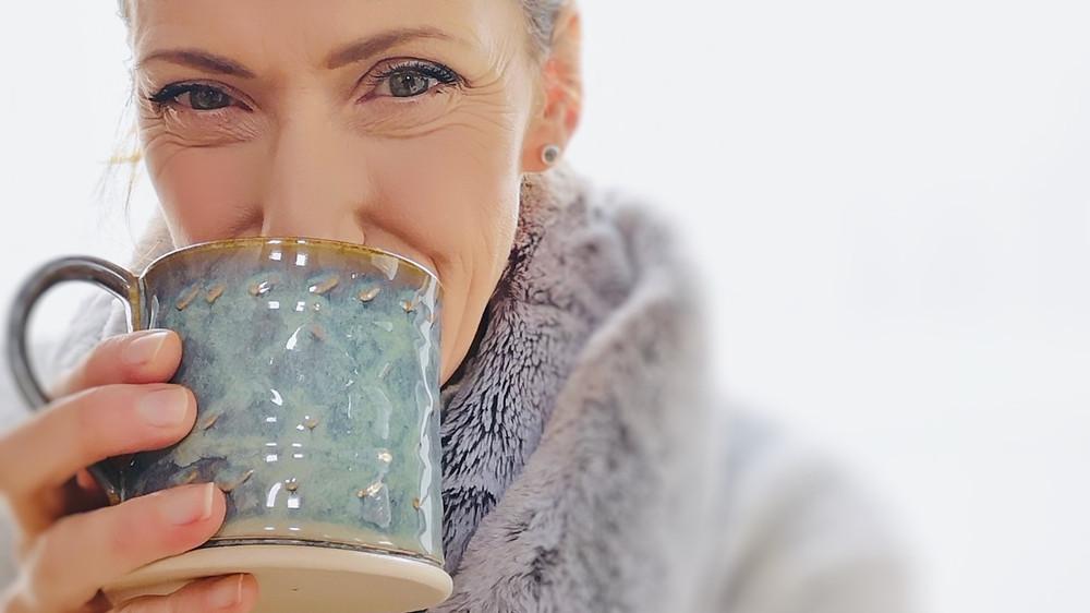 Pottery Mug with women