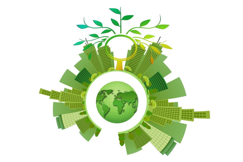ilustração representando a sustentabilidade ambiental nas empresas
