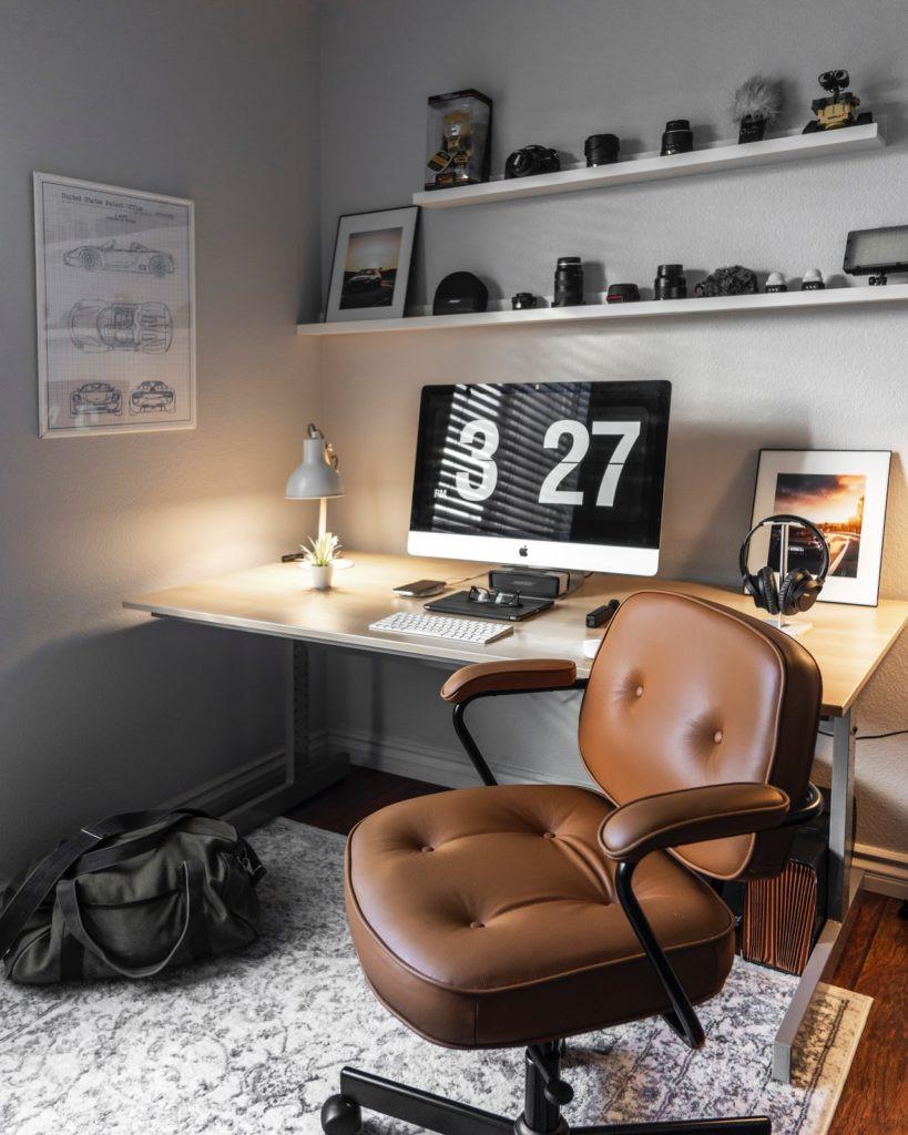 imagem de um escritório domiciliar pronto para o home office