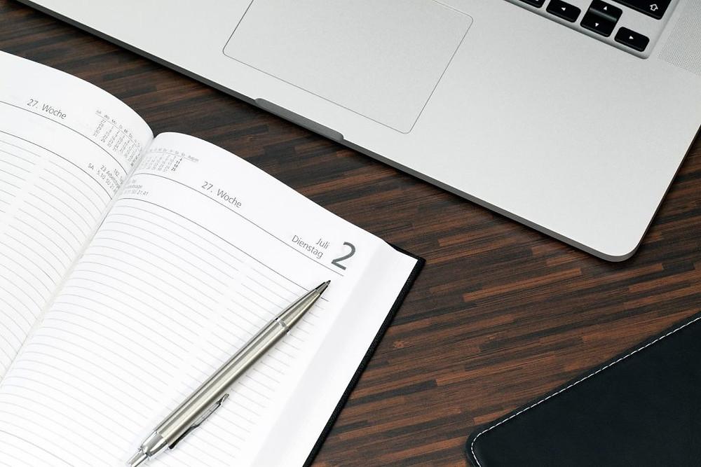 notebook com software de gestão comercial
