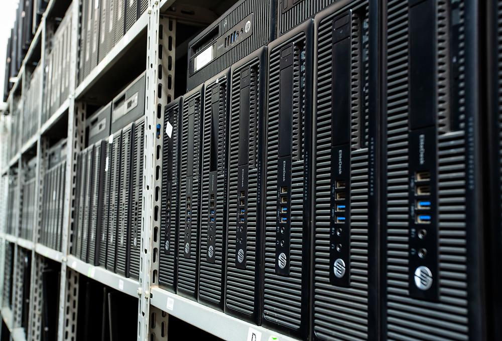 Estoque de Computadores Seminovos HP da Microexato