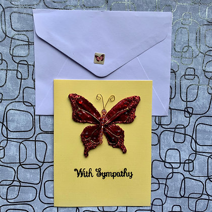 Blank Sympathy Greeting Card