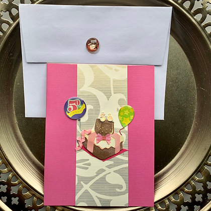 Blank 50th Birthday Greeting Card