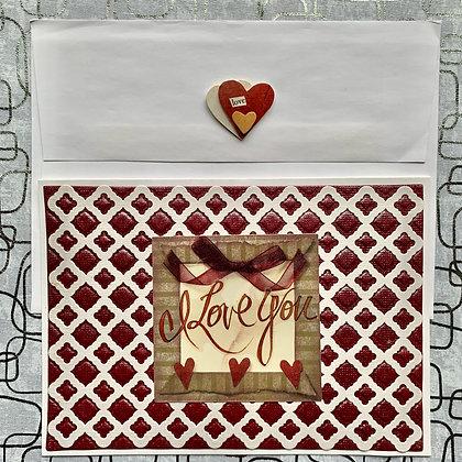 Blank Love Greeting Card