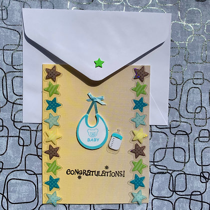 Blank Baby Shower Greeting Card