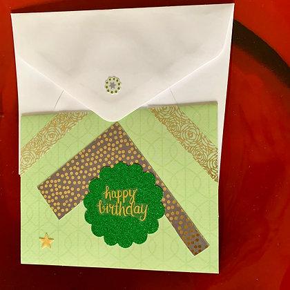 Blank Birthday Greeting Card