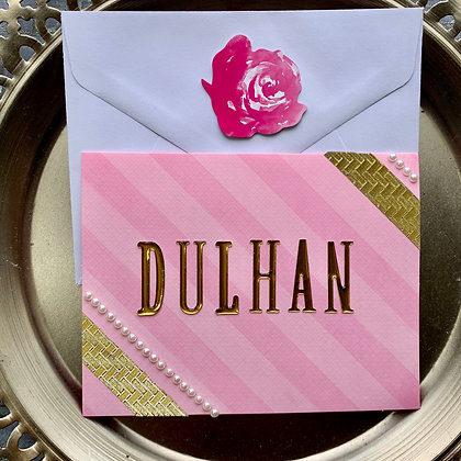Blank Dulhan To Be Greeting Card