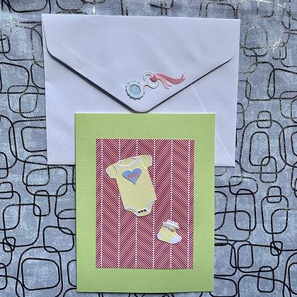 Blank Unisex Baby Shower Greeting Card