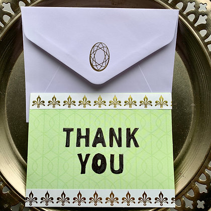Blank Thank You Greeting Card