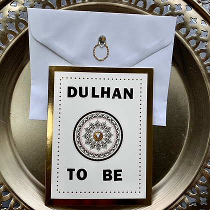 Blank Dulhan To Be Bridal Shower Greeting Card
