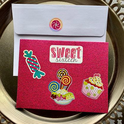 Blank Sweet Sixteen Birthday Card