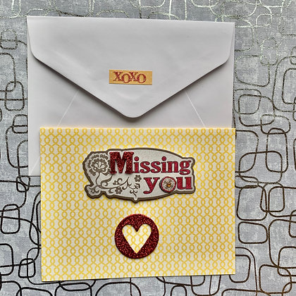 Blank Missing You Greeting Card